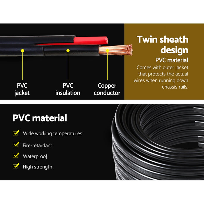 Twin Core Wire Electrical Automotive Cable 2 Sheath 450V 3MM 100M