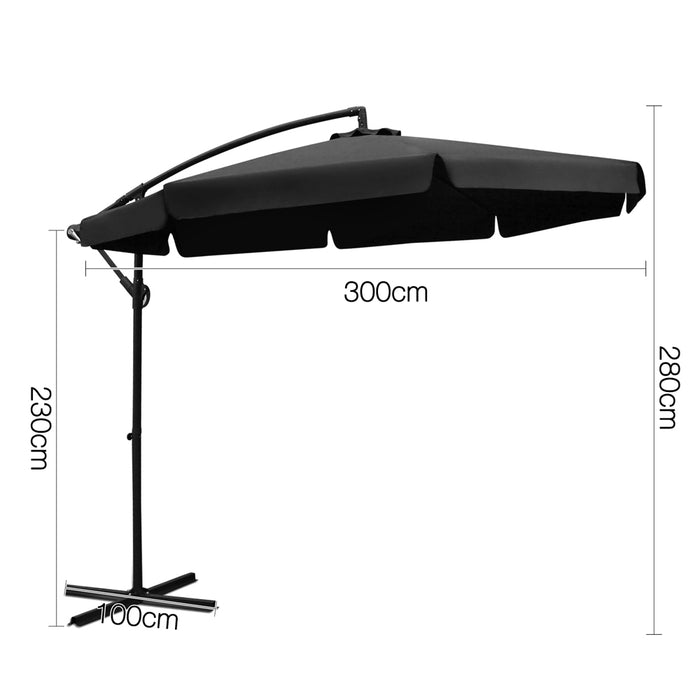 3M Outdoor Umbrella - Black