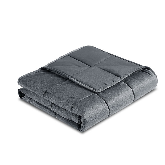Bedding 5KG Plush Minky Weighted Gravity Blanket Deep Relax Calming Adult