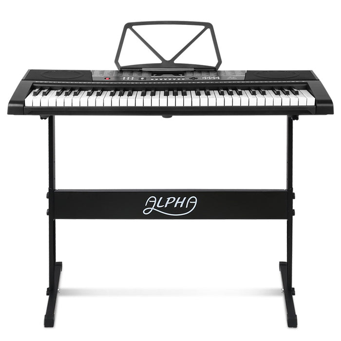 61 Keys Electronic Piano Keyboard LED Electric w/Holder Music Stand USB Port