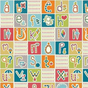 Image of ABC Patchwork - Birch - Picnic Whimsy