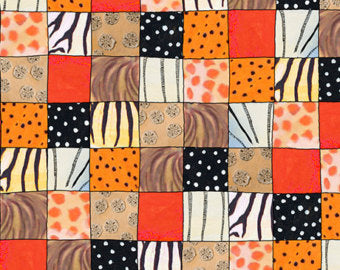 Image of Animal Skin Patch in Orange - Quilting Treasures - The Migration