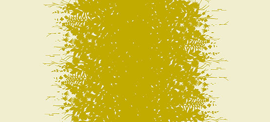 Image of Silhouette Double Border in Gold - Andover - Alison Glass - Adorn