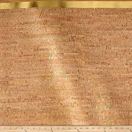 Image of Natural Cork Fabric with Durable Backing in Natural, Gold - Touch PRO
