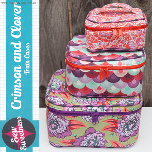 Image of Crimson and Clover Train Cases - Sew Sweetness - Sara Lawson