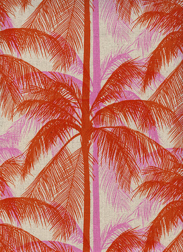Image of Palms in Pink - Cotton and Steel - Melody Miller and Alexia Abegg - Poolside