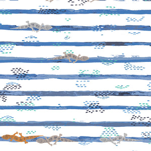 Image of Gecko Trails - Cotton and Steel - Katarina Roccella - Mediterraneo