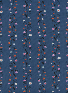 Image of Daisy Vines in Denim - Cotton and Steel - Kim Kight - Welsummer