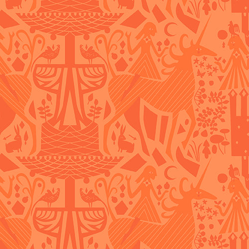 Image of Unicorn Tonal in Orange - Andover - Lizzy House - The Lovely Hunt