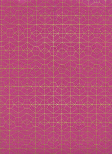 Image of Geo Grid in Fuschia Metallic - Cotton and Steel - Rashida Coleman Hale - Akoma