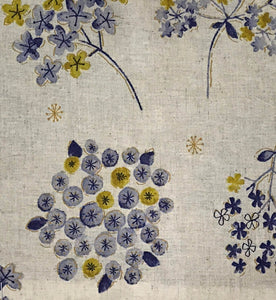 Image of Floral Watercolor in Mustard and Blue - Koizumi Lifetex