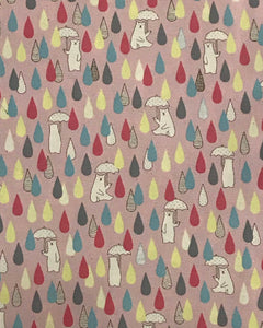 Image of Bears and Raindrops in Multi Pink - Kokka