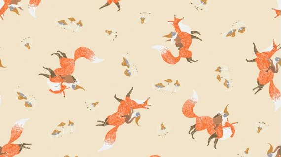 Image of Gnomes and Foxes in Wheat - Dear Stella - Rae Ritchie - Black Forest