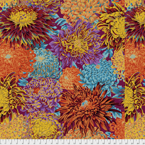 Image of Japanese Chrysanthemum in Autumn - Free Spirit - Kaffe Fassett Collective - Kaffe Fassett Collective Fall 2018