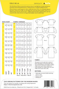 Cielo Top & Dress Pattern - Closet Case Patterns