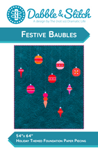 Load image into Gallery viewer, Festive Baubles Quilt Pattern - Dabble & Stitch