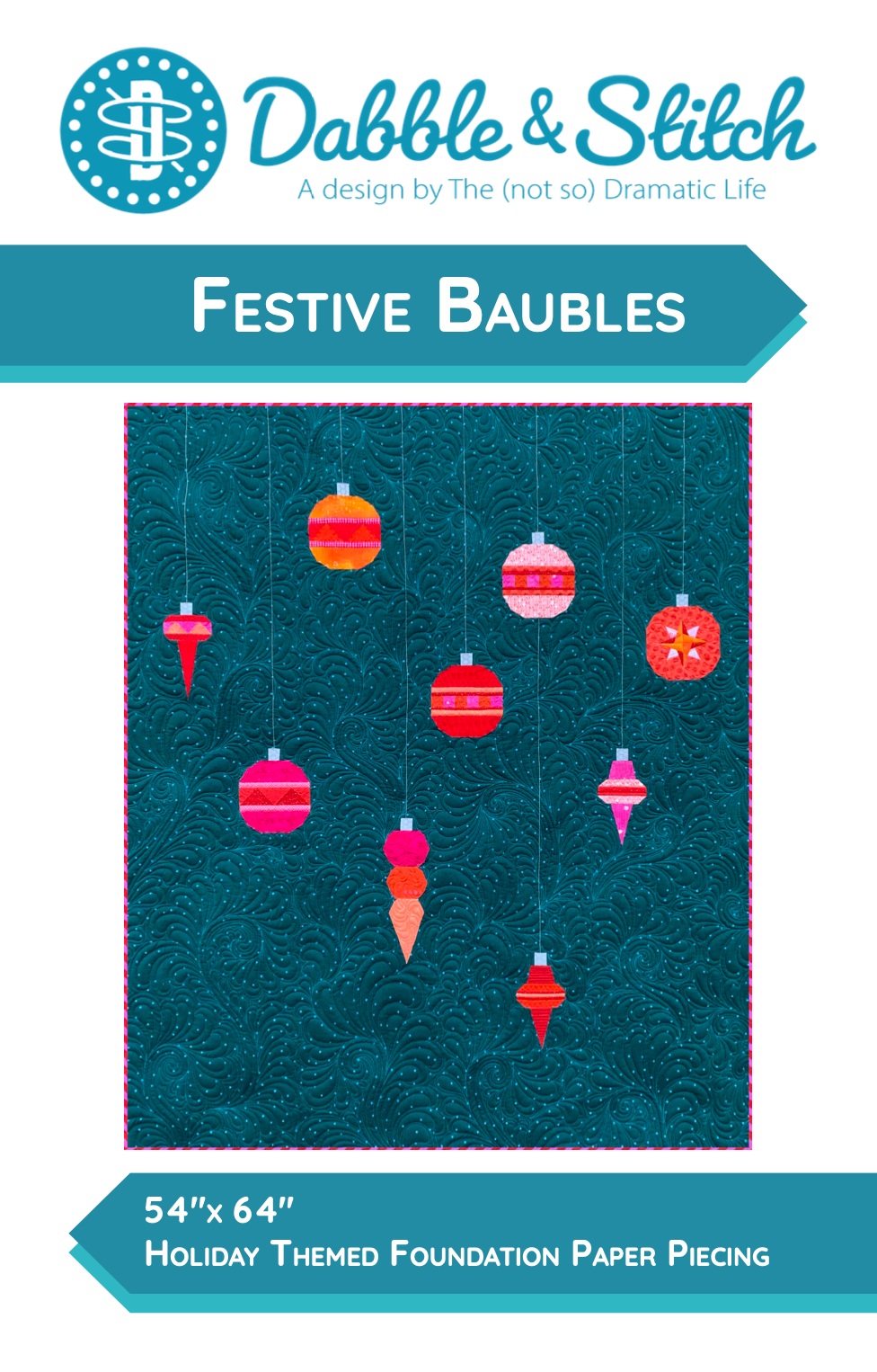 Festive Baubles Quilt Pattern - Dabble & Stitch
