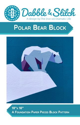 Polar Bear Block - Dabble & Stitch