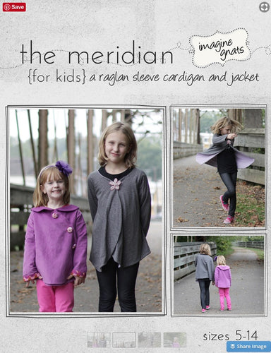 The Meridian Kids Cardigan Pattern - Imagine Gnats