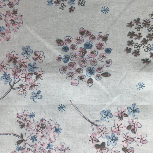 Floral Watercolor in Gray Natural - Linen Blend - Koizumi Lifetex - 148-1857-A1