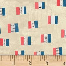 French Flags in Sand - Windham - Carrie Bloomston - Wonder - 50518-1