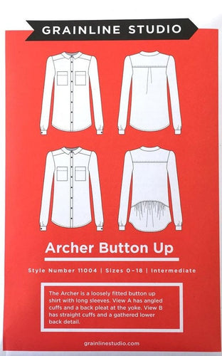 Archer Button Up Pattern - Grainline Studio