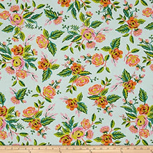 Load image into Gallery viewer, Jardin de Paris in Mint - Rayon - Cotton and Steel - Rifle Paper Co. - Menagerie - 8037-15