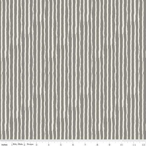 Stripe Grey - Knock on Wood - Riley Blake - C5354