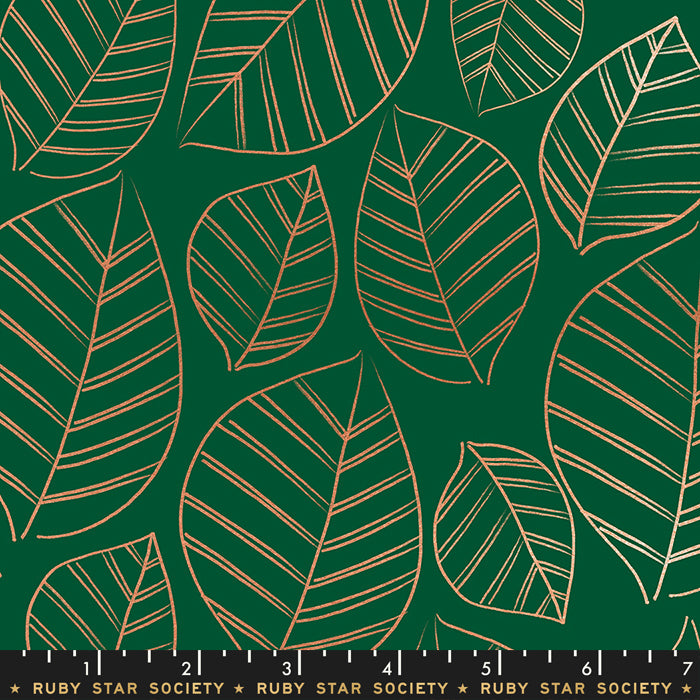 Leafy in Metallic Jade - Ruby Star Society - Aviary - RS5003 15M