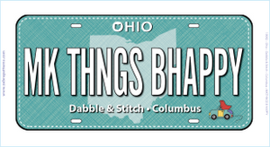 MK THINGS BHAPPY - Zebra Patterns - Row by Row License Plate