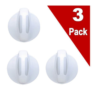 (3 Pack) ER134844410 Washer / Dyer Knob Replaces 134844410