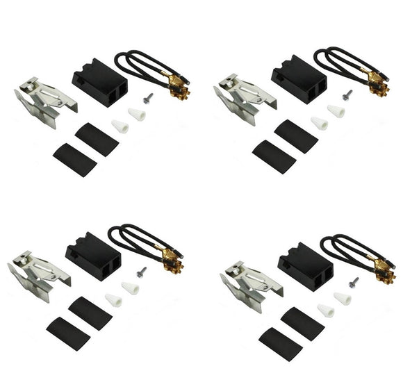 (4 Pack)  330031 Whirlpool Genuine OEM Burner Element Receptacle Kit
