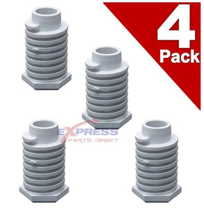 (4 Pack) ER49621 Dryer Leveling Leg Foot Replaces 49621