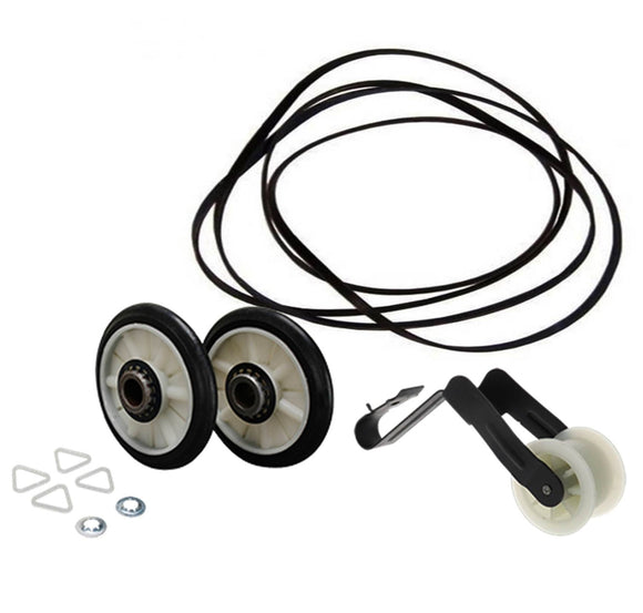 ER4392065 Dryer Drum Roller, Belt and Idler Pulley Set Replaces 4392065, 349241T, 341241, WP691366