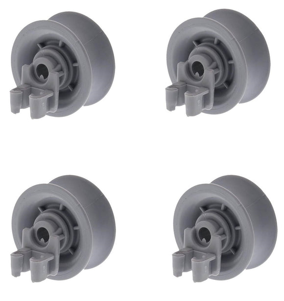 (4 Pack) ER611666 Dishwasher Upper Rack Roller Replaces 00611666