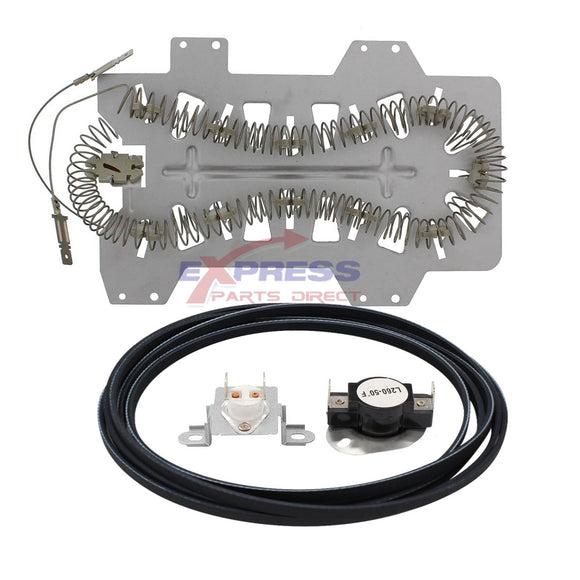 EXPSHT2B Dryer Heater, Belt  & Thermostat Kit Replaces DC47-00019A, 6602-001655, DC47-00018A, DC96-00887C