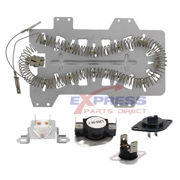 EXPSHT4 Dryer Heater & Thermostat Kit Replaces DC47-00019A, DC47-00018A, DC96-00887C, DC47-00016A, DC32-00007A