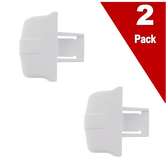 (2 Pack) ERWR2X9144 Refrigerator Shelf Retainer Bar Support Replaces WR2X9144