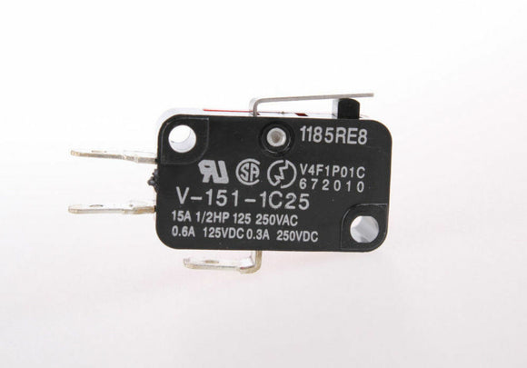 V-151-1C25 Micro Limit Switch | Short Hinge Lever