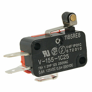 V-155-1C25 Micro Limit Switch | Short Hinge Roller Lever