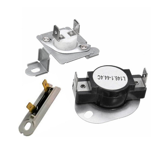 EXP279973 - EXP3392519 Dryer Thermostat Kit and Thermal Fuse Replaces 279973, WP3392519