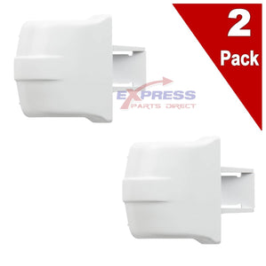 (2 Pack) ERWR2X8345 Refrigerator Door Bar End-Cap Replaces WR2X8345
