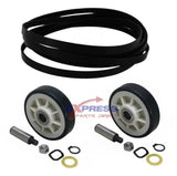 EXP333 Dryer Drum Belt and Rollers Set Replaces WP33002535, 12001541