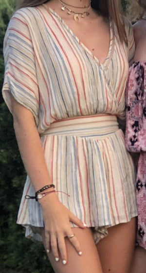 DELINA striped romper