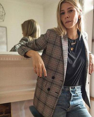 AMBER Plaid Blazer