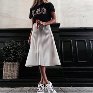 NIKITA pleated chiffon skirt