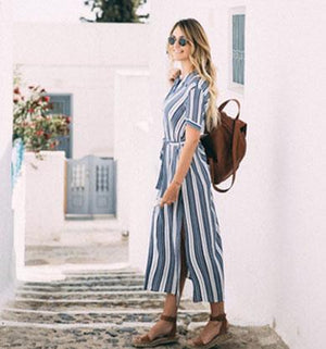 CANDACE striped jumpsuit
