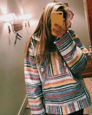 EDNA striped colorful sweatshirt