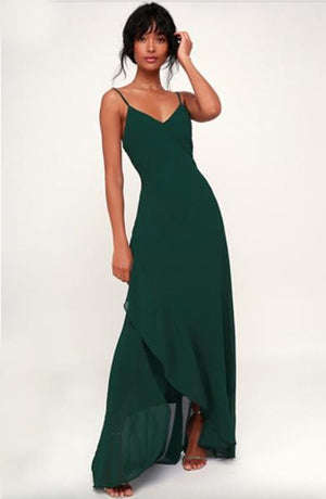 AWKARIN v neck satin dress