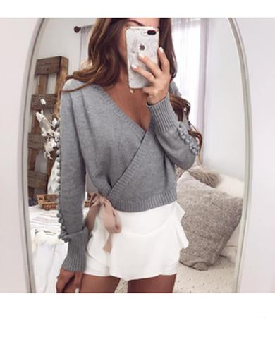 THELMA long sleeve knitted top